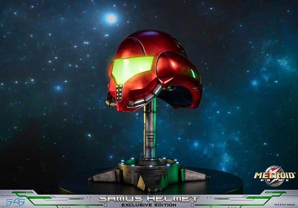 Metroid Prime Samus Aran Replica Helmet Lands at First 4 Figures