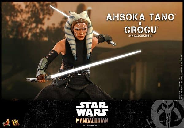 Star Wars The Mandalorian Ahsoka Tano Meets Grogu With Hot Toys