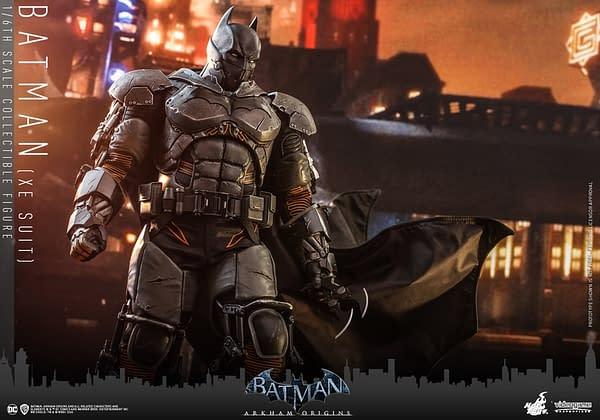 Batman: Arkham Origins XE Suit Deploys Into Gotham With Hot Toys