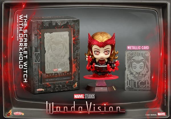 Scarlet Witch Wields the Darkhold With New Hot Toys Cosbaby