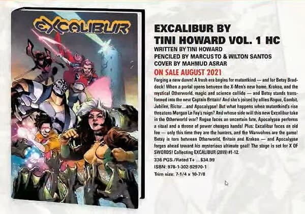 Dawn Of X Comics Get Over-Sized Hardcovers - Marauders and Excalibur