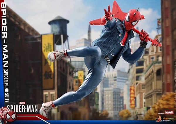 Hot Toys Spider Man Spider Punk Figure 7