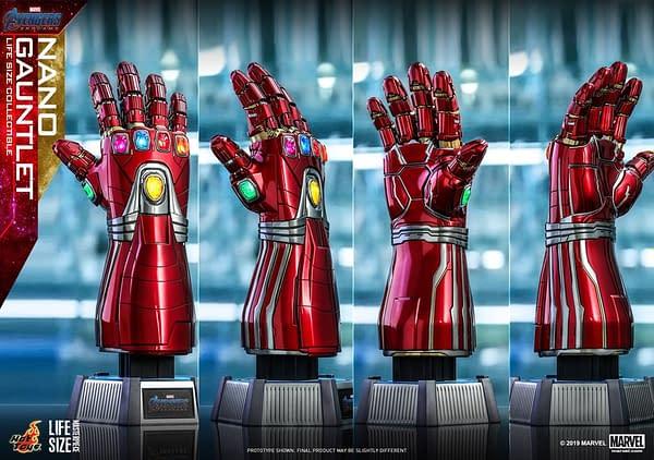 Hot Toys Reveals Avengers: Endgame Life-Size Nano Gauntlet