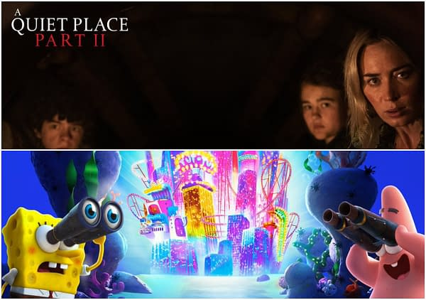 Paramount releases two new Zoom backgrounds featuring A Quiet Place Part 2 and Spongebob.