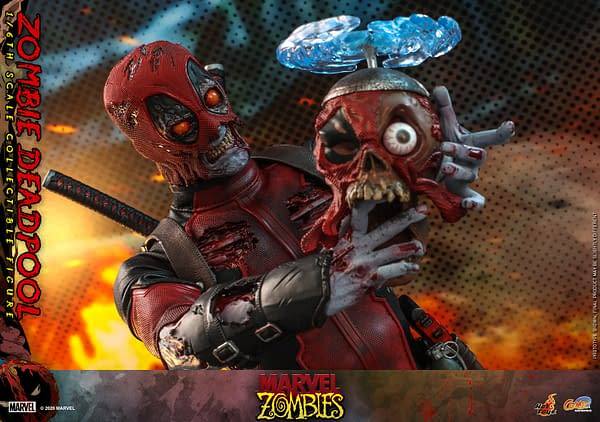 Marvel Zombies Deadpool Rises from the Grave with Hot Toys