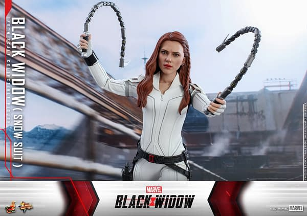 Black Widow Wears Her New Snow Suit With Hot Toys Newest Figure