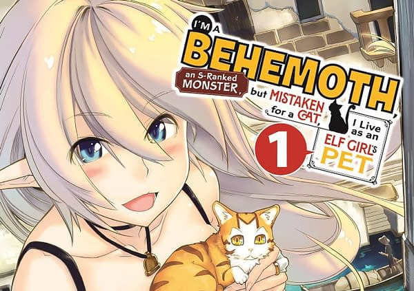 Official Cover for Yen Press' I'm a Behemoth But Mistaken for a Cat I Live as an Elf Girl's Pet published by Yen Press.