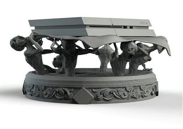 Russian Artist Creates the Freakiest Bloodborne PS4 Stand You'll Ever See