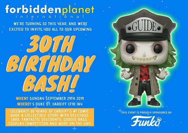 Today, Forbidden Planet Cardiff Celebrates Thirty Years - Sponsored by Funko