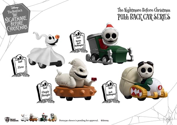 Nightmare Before Christmas Revs Their Engines with Beast Kingdom