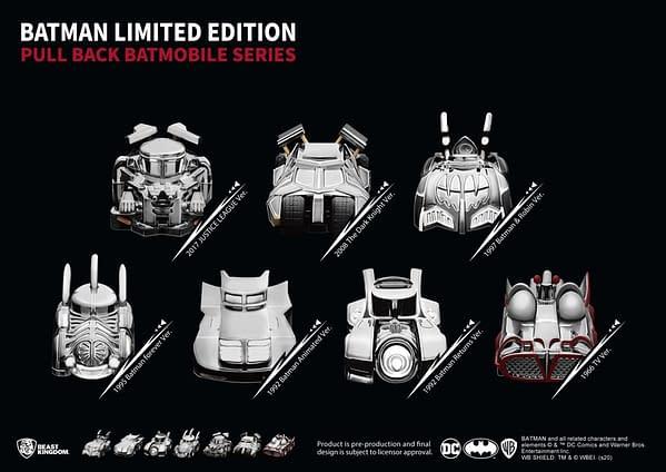 Batman Batmobiles Get Special Edition Set from Beast Kingdom