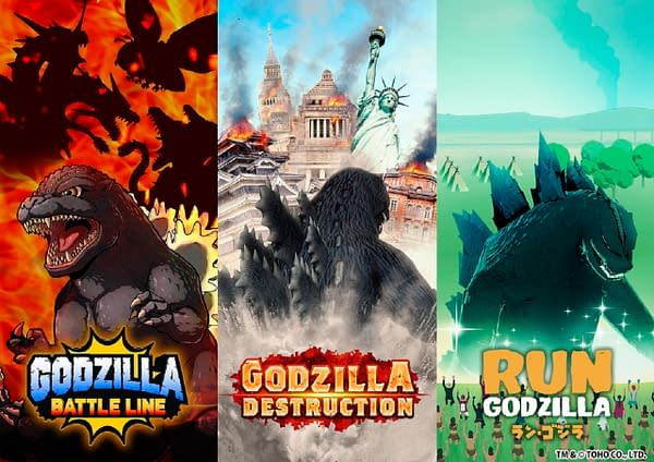 Not one, not two, but three Godzilla games on the way! Courtesy of TOHO Games.