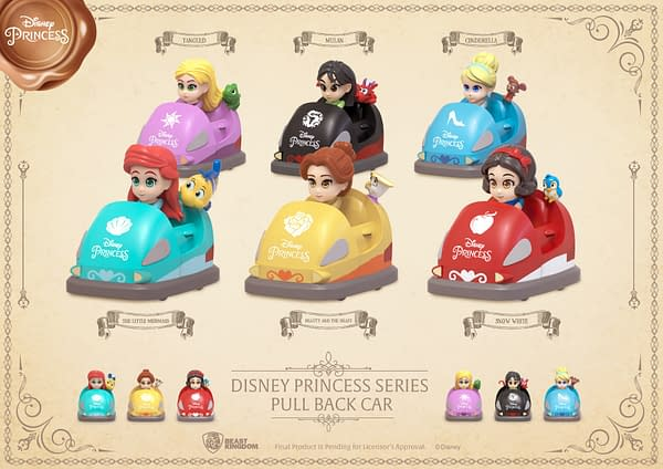 Disney Princesses Burn Rubber With New Beast Kingdom Pull Back Cars