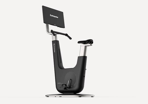 The Playpulse ONE, a new video game console that is also, arguably primarily, a stationary exercise bike.
