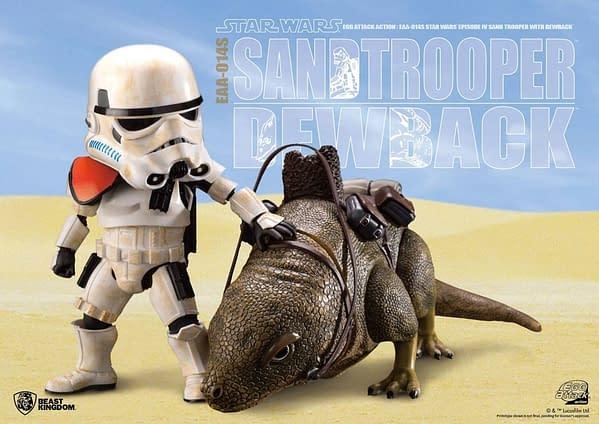 Star Wars Sandtrooper and Dewback EAA Figure Coming From Beast Kingdom
