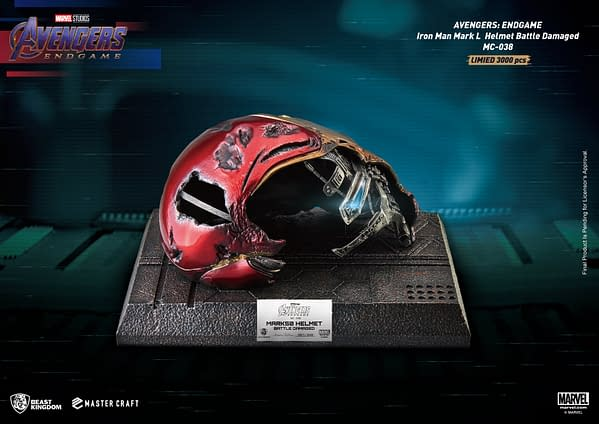 Own Iron Man's Damaged Helmet from Endgame with Beast Kingdom