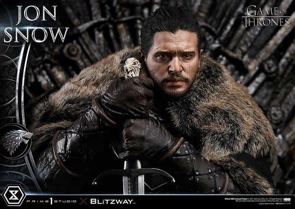 Game of Thrones Jon Snow Sits on the Iron Throne With Prime 1 Studio