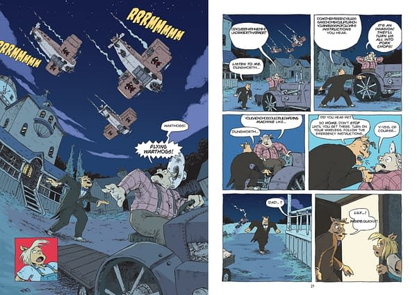 Pigs Might Fly By Nick Abadzis And Jerel Dye From First: Second To Debut At San Diego Comic-Con #SDCC17