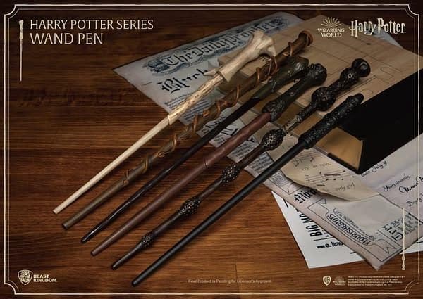 Beast Kingdom Reveals Collectible Harry Potter Wand Pens
