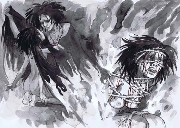 Jill Thompson's Sandman Movie Pitch Art For Sale