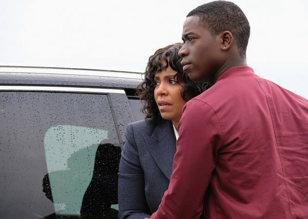 """""""Replay"""" -- Sanaa Lathan as Nina Harrison and Damson Idris as Dorian Harrison of THE TWILIGHT ZONE for CBS All Access. Photo Cr: Robert Falconer/CBS © 2018 CBS Interactive. All Rights Reserved."""