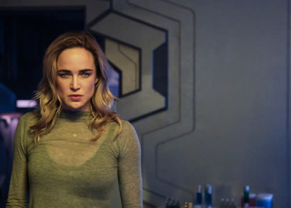 Caity Lotz as Sara Lance/White Canary on DC's Legends of Tomorrow, courtesy of The CW.