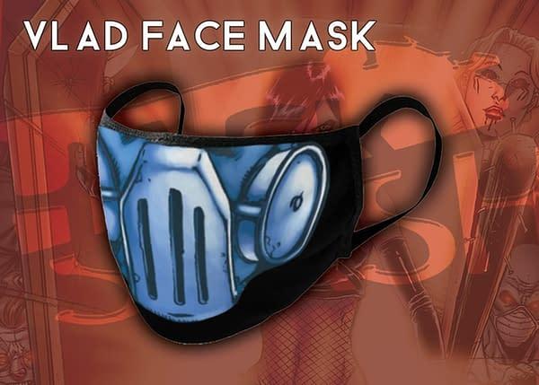 """Hack/Slash """"Big Hack Energy-Sized"""" Omnibus Hardcover #1 Kickstarter Vlad Face Mask"""