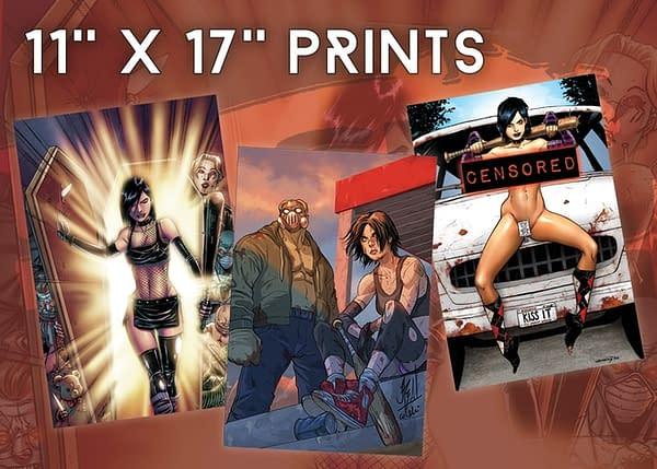 """Hack/Slash """"Big Hack Energy-Sized"""" Omnibus Hardcover #1 Kickstarter Print Set"""