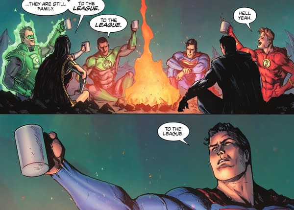 A scene from Justice League: The Last Ride #3