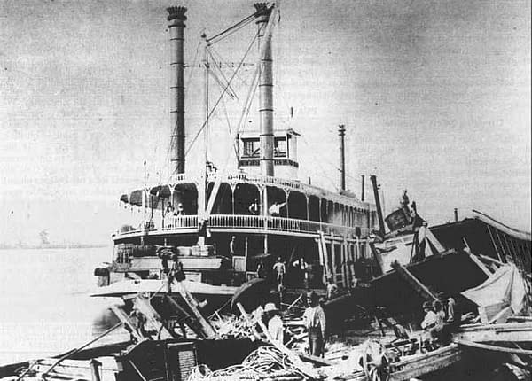 The T.F. Eckert in 1884, a salvage boat for the Underwriter Wrecking Company of Cincinnati, where Thomas F. Eckert was president of the firm.