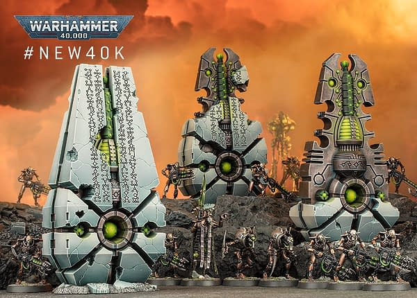 A scenic shot of the Convergence of Dominion, a new model for the ninth edition of Warhammer 40,000.