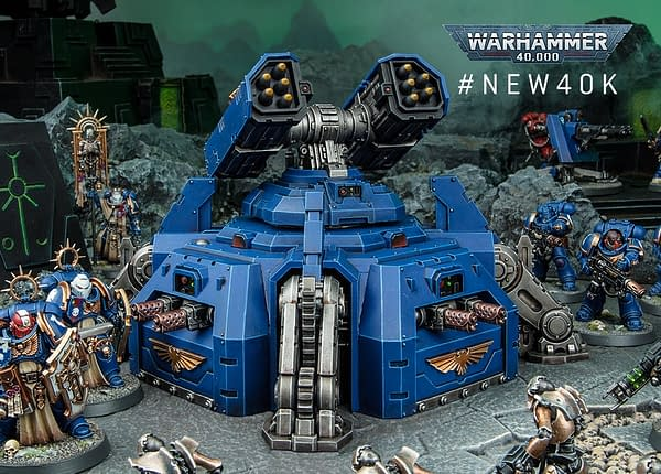 A scenic shot of the Hammerfall Bunker, a new model for the ninth edition of Warhammer 40,000.