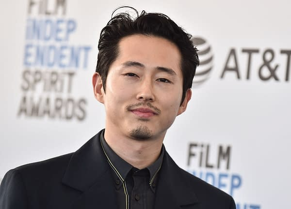 Steven Yeun arrives for the 2019 Film Independent Spirit Awards on February 23, 2019 in Santa Monica, CA. Editorial credit: DFree / Shutterstock.com