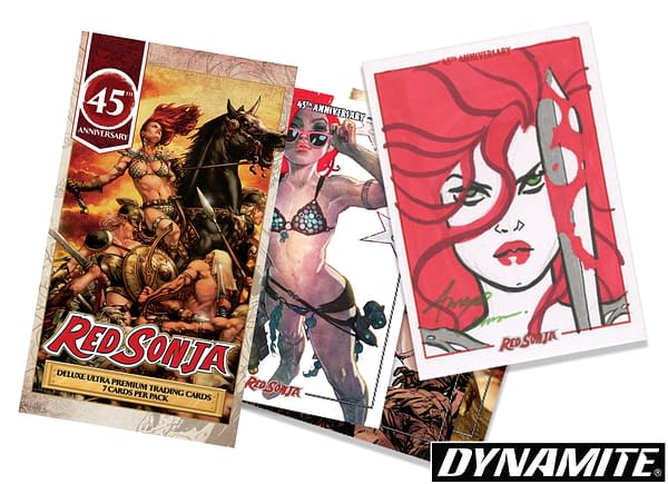 Dynamite Launches Red Sonja 45th Anniversary Trading Cards Kickstarter