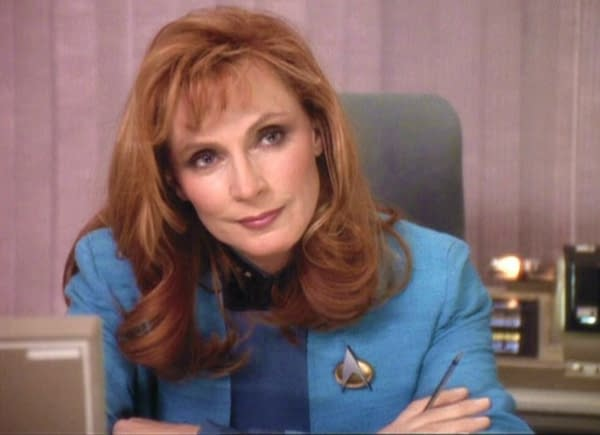 Gates McFadden as Dr. Beverly Crusher in Star Trek: The Next Generation. Image courtesy of ViacomCBS