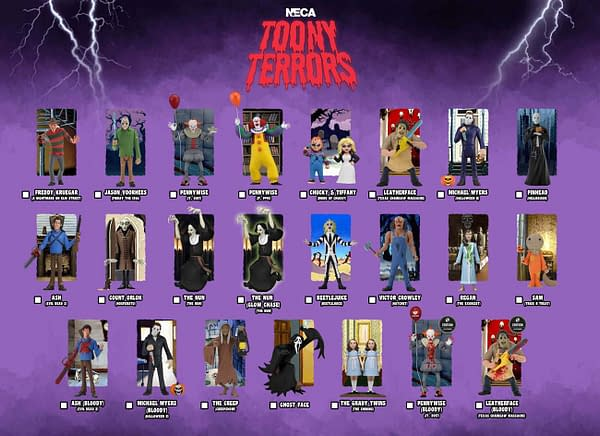 NECA 12 Days Of Downloads: Toony Terrors Checklist Revealed