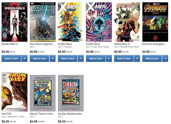All Marvel Comics Trade Paperbacks Out Today Are, Again, 99 Cents on ComiXology