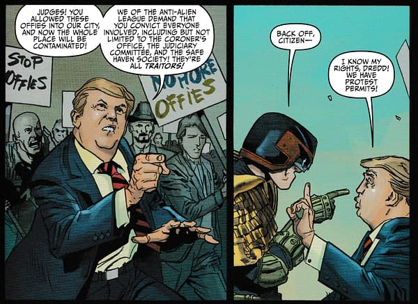 Donald Trump Comes to Mega-City One in Judge Dredd: Toxic #1 (Spoilers)