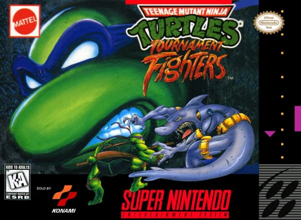 Teenage Mutant Ninja Turtles Tournament Fighter SNES Cover