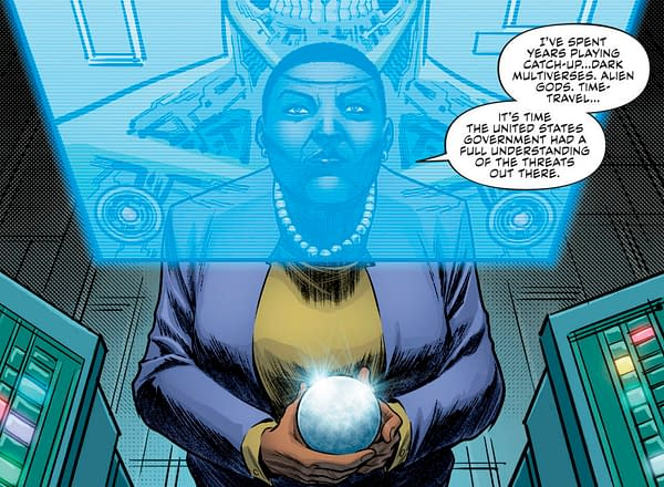 In Today's Justice League: No Justice #1, Amanda Waller Will be Playing the Part of Star-Lord… (SPOILERS)