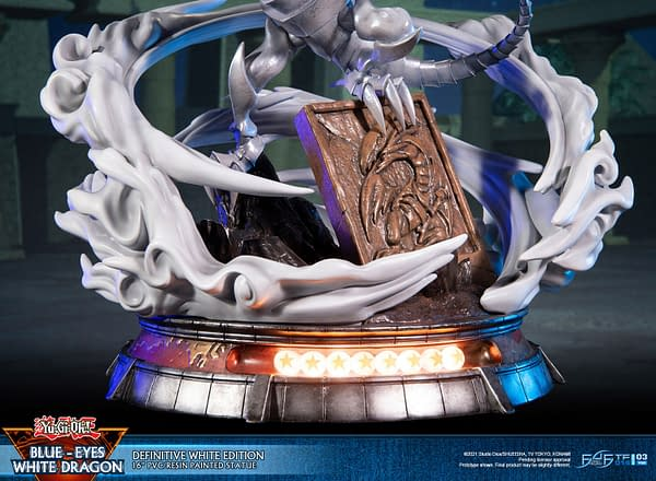 Yu-Gi-Oh Blue-Eyes White Dragon Powers Up with First 4 Figures