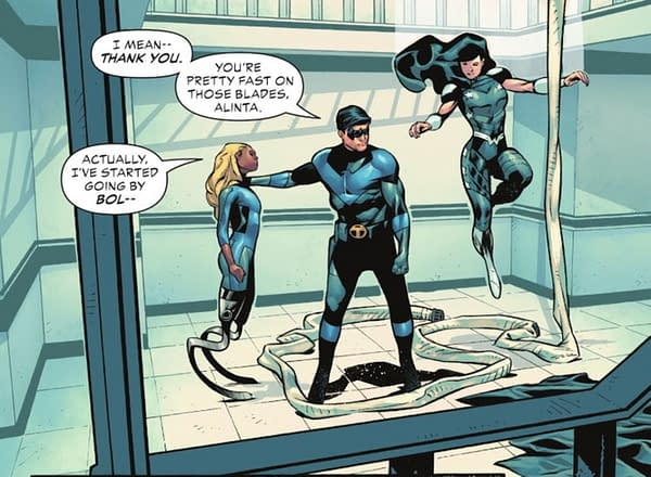 How Bolt Got Her Name In Teen Titans Academy #2 (Spoilers)
