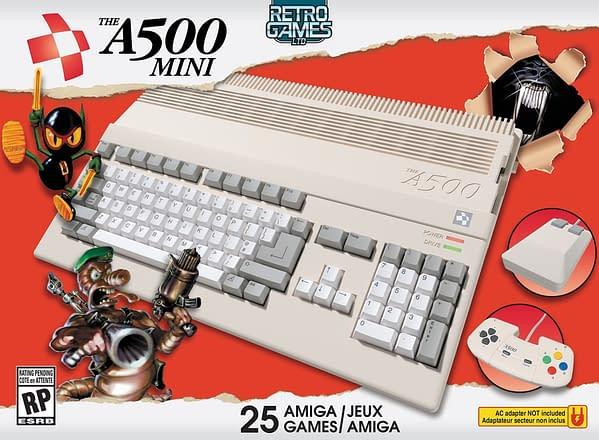 Art de la boîte pour l'A500 Mini, avec l'aimable autorisation de Retro Games Ltd.