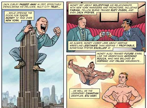 From the Comic Book Story of Professional Wrestling by Aubrey Sitterson and Chris Moreno