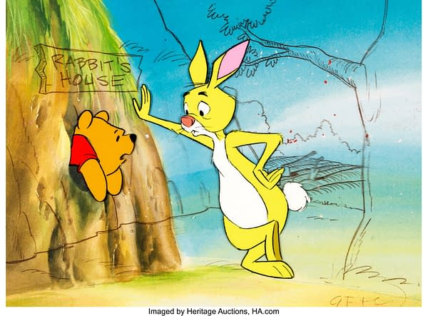 Winnie the Pooh production cel. Credit: Heritage