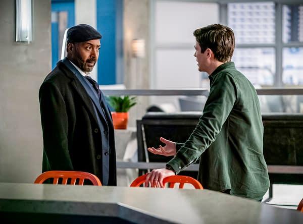 Joe and Barry debate the best steps to keep Joe safe, courtesy of The CW.