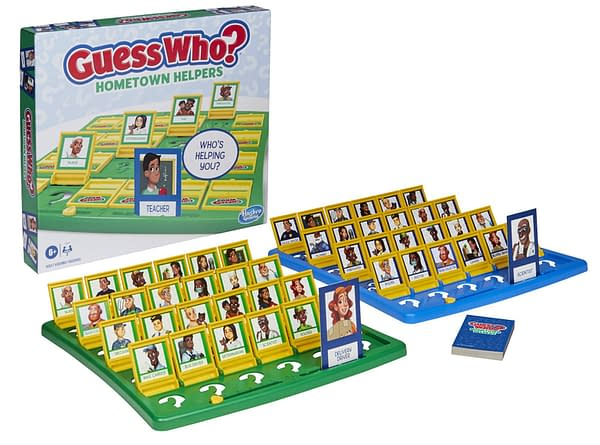 A look at the box and packaging for Guess Who? Hometown Helpers, courtesy of Hasbro.