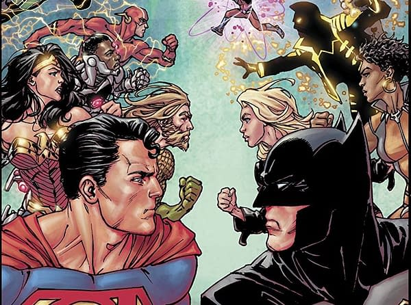Justice League #40 cover by David Yardin