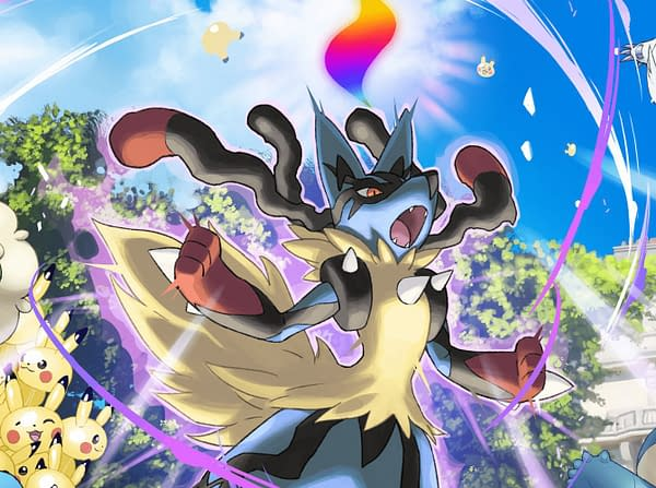 Mega Evolution promotional artwork for Pokémon GO, discussed at GO Fest 2020. Credit: Niantic.
