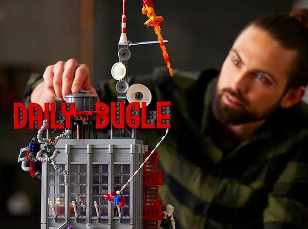 "LEGO Reveals Massive 32"" Spider-Man Daily Bugle Building Set"